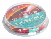 DVD+RW 4,7Gb VS 4-x Cake Box (10шт/уп) арт.