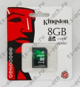 Карта памяти Kingston (SDHC) 8 gb class 10 арт. SD10V/8Gb