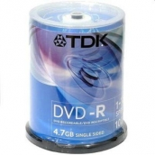 DVD-R 4,7Gb TDK 16-x CakeBox (100шт/уп) арт.