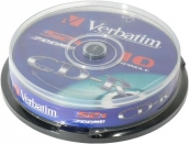 CD-R disk 700 Mb Verbatim 52x Cake Box  (10шт уп.) арт.