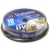 DVD+R 4,7Gb Verbatim 16x CakeBox (10шт/уп) арт.